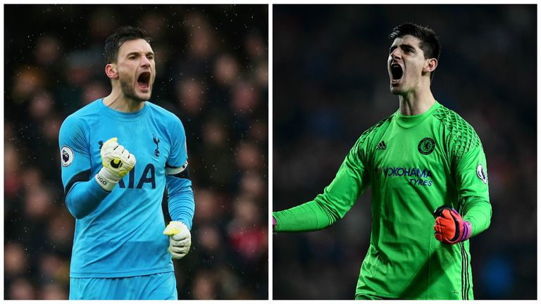 Courtois and Tottenham's Hugo Lloris have both kept 13 clean sheets in the league