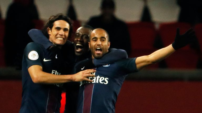 Chelsea were reported to be interested in signing Lucas Moura (R)  from Paris Saint-Germain this week