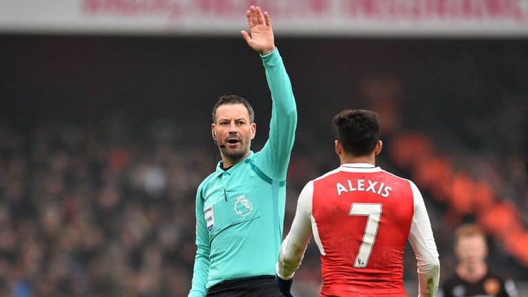 Mark Clattenburg's last Premier League game was between Arsenal and Hull