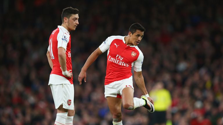 Mesut Ozil and Alexis Sanchez see their contracts expire in 2018