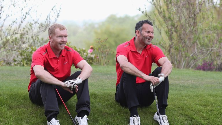 Scholes (left) is from Oldham and supports the League One club