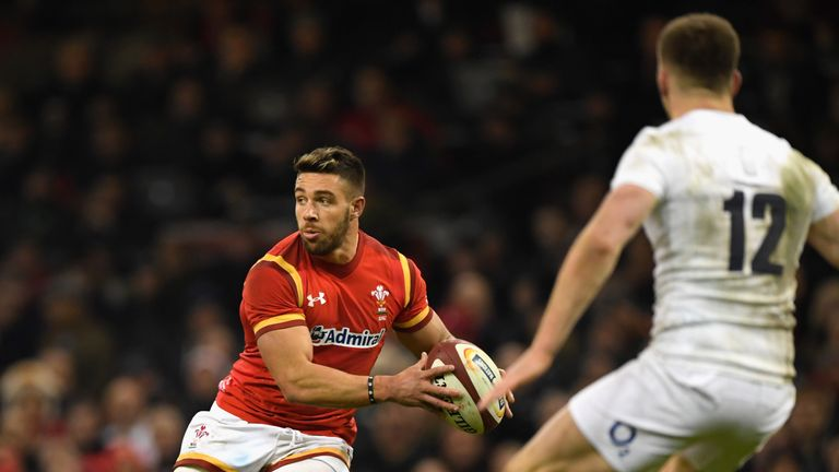 Rhys Webb's pass opened up the English defence for Liam Williams' try