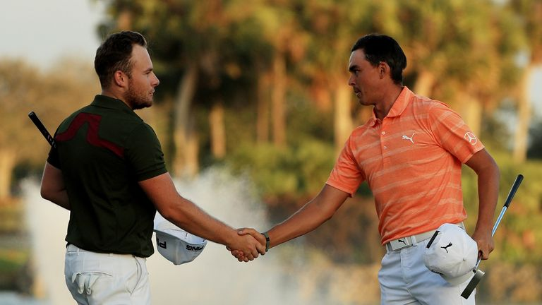 Tyrrell Hatton (L) was paired with Fowler for the final round