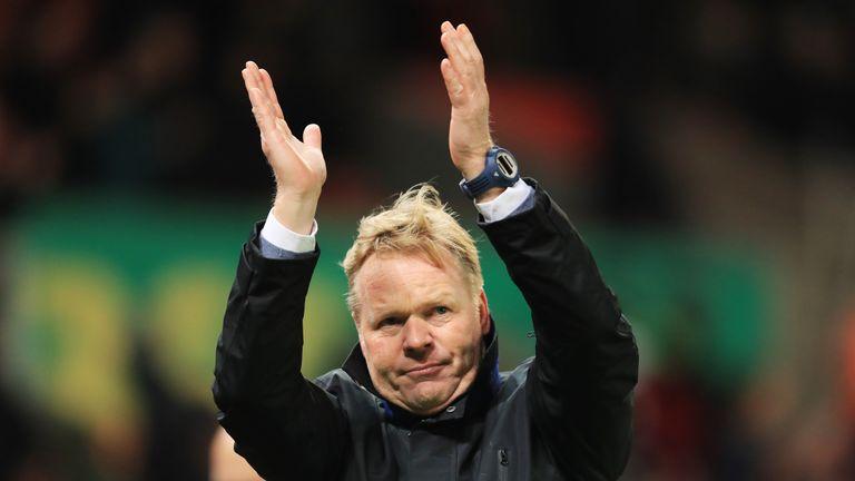 Koeman has overseen a run of nine unbeaten games at Everton