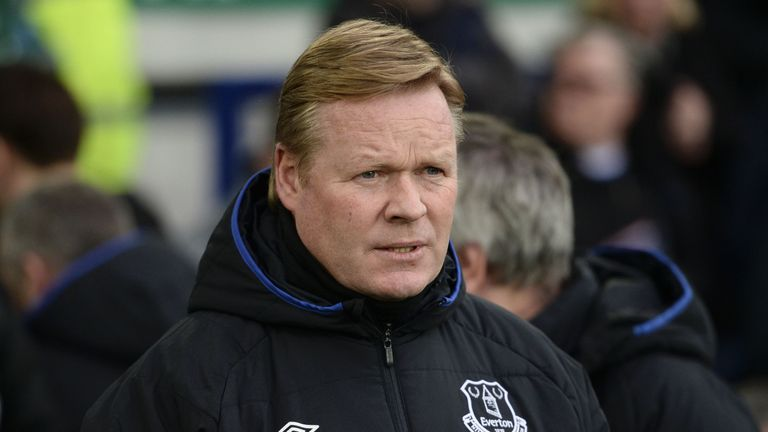 Ronald Koeman's Everton are firmly in seventh place