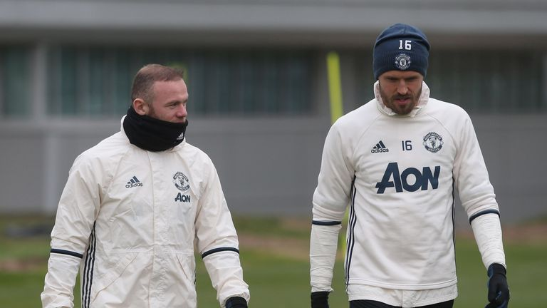 Wayne Rooney and Michael Carrick are being rested for Thursday's Europa League match
