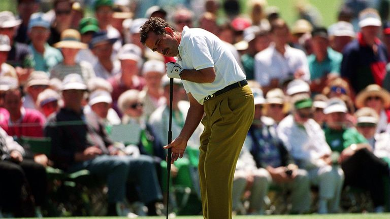Sam Torrance was one of the first players to use the infamous 'broomhandle' putter