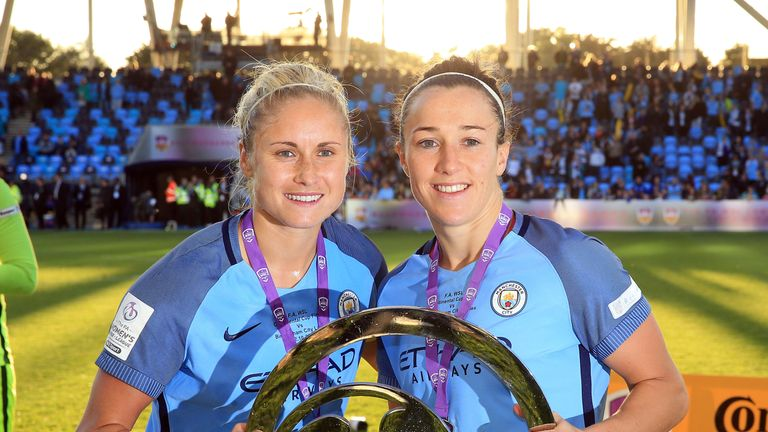 Lucy Bronze (Right) has backed Manchester City Women against Lyon