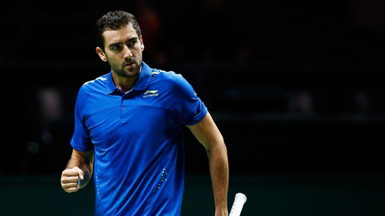Top seed Marin Cilic progressed in Rotterdam