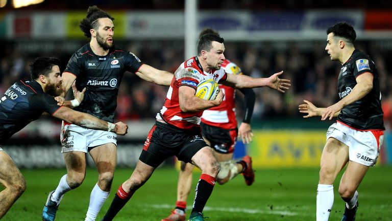 Tom Marshall scored a try in Gloucester's win over Saracens