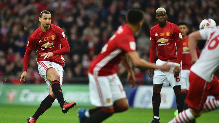 Ibrahimovic scored the opening goal of the EFL Cup final