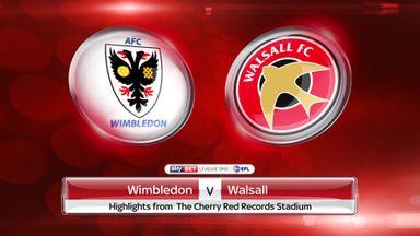 Wimbledon 1-0 Walsall