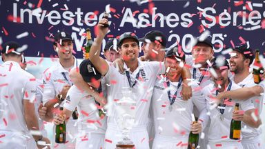 Alastair Cook led England to victory in the last Ashes series
