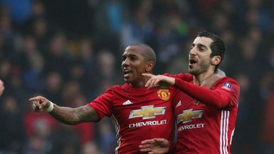 Ashley Young (left) still has more than a year to run on his Manchester United contract