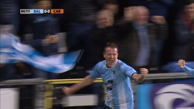 Allan Jenkins celebrates giving Ballymena the lead
