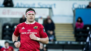 Billy Holland won his 150th cap for Munster at the Liberty Stadium