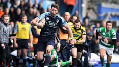 Alex Cuthbert scored Cardiff's eighth and final try at the Arms Park