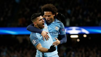 Sergio Aguero and Leroy Sane both struck as Manchester City beat Monaco 5-3 in a Champions League thriller