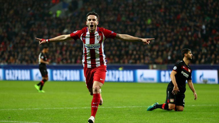 Antoine Griezmann celebrates scoring Atletico's second goal