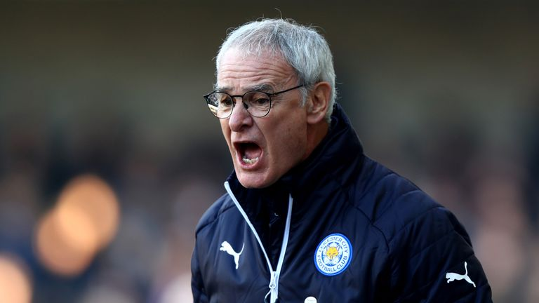 LONDON, ENGLAND - FEBRUARY 18: Claudio Ranieri, Manager of Leicester City reacts during The Emirates FA Cup Fifth Round match between Millwall and Leiceste