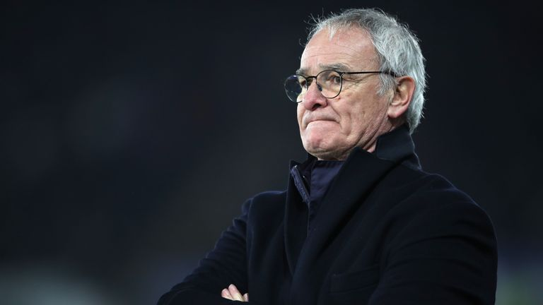 Leicester City manager Claudio Ranieri during the Premier League match at the Liberty Stadium, Swansea.