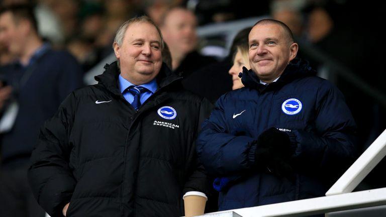 Brighton & Hove Albion chief executive Paul Barber (right)