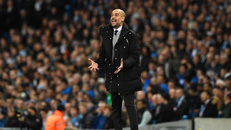 Pep Guardiola says Manchester City must score in the second leg in Monaco