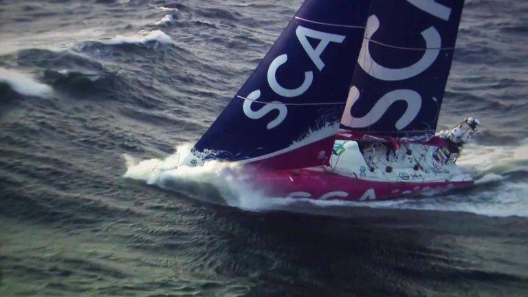 Caffari was part of the Team SCA crew in the last Volvo Ocean Race