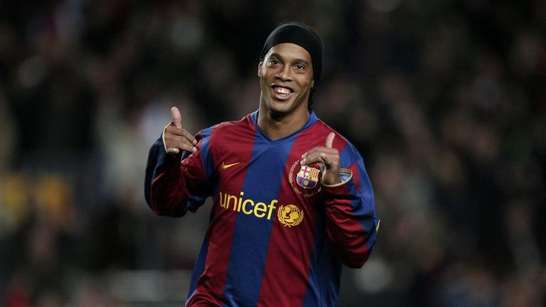 Ronaldinho claimed the 2005 Ballon d'Or during a trophy-laden spell at Barcelona