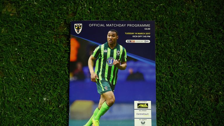 The AFC Wimbledon match-day programme from the game made no reference to their opponents MK Dons