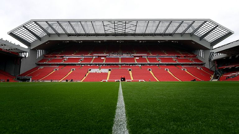 Liverpool expanded their Anfield ground to 54,074 seats with the redevelopment of the Main Stand