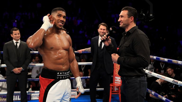 Joshua and Klitschko swiftly welcomed the opportunity to share the ring