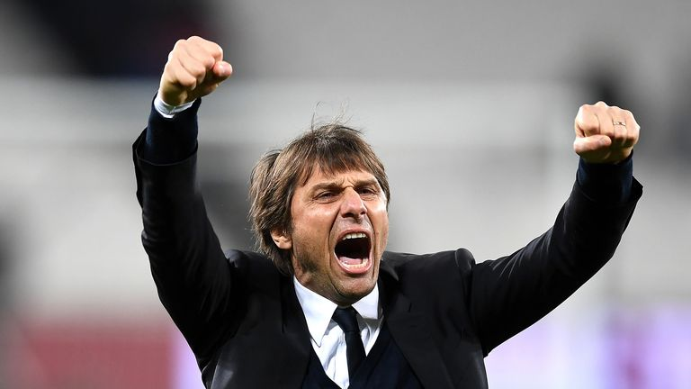 Antonio Conte says eight more wins will see Chelsea crowned as champions