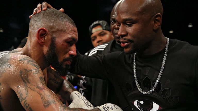 Theophane received a world title shot after impressing Mayweather