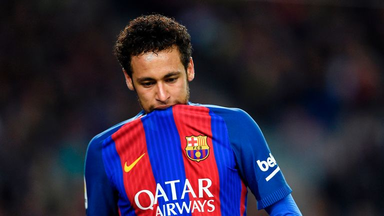 Neymar sees red as Barcelona suffer shock defeat at Malaga
