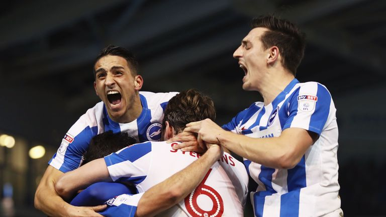 Brighton could be promoted to the Premier League on Monday