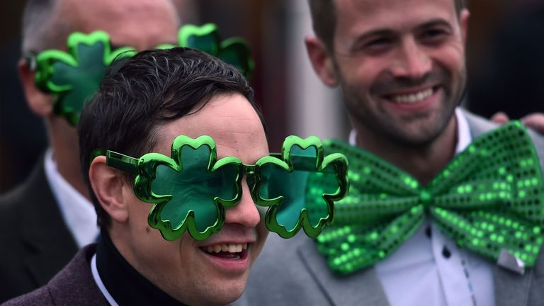 Bumble is with the masses at Cheltenham this St Patrick's Day