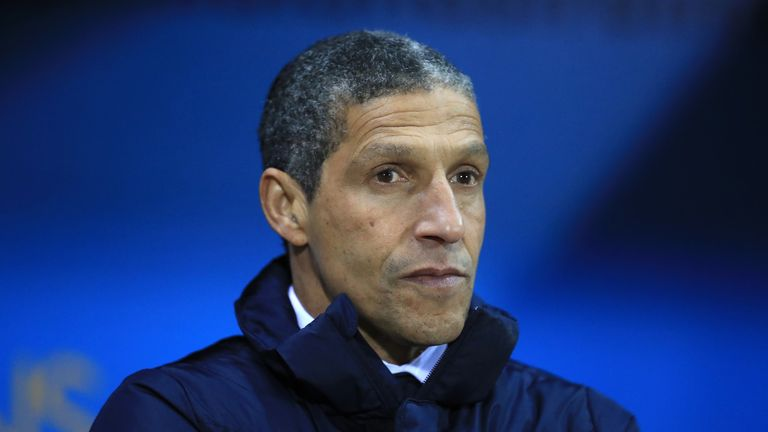 Brighton manager Chris Hughton says the only difference between his team and Leeds were that they were more clinical