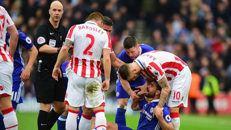 Costa was once again at the centre of controversy during Chelsea's win over Stoke