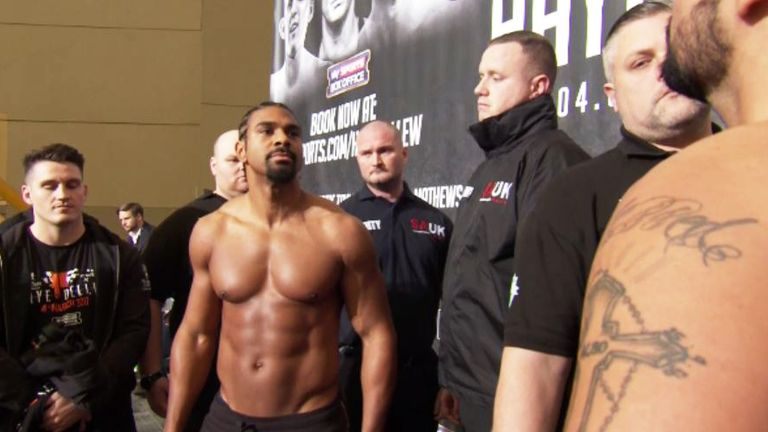 Haye and Bellew faced each other for the final time before the first bell
