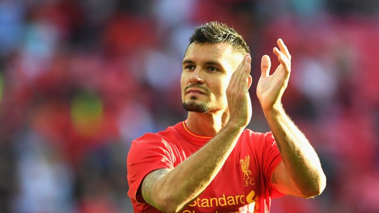 Liverpool's Dejan Lovren partners Everton's Ashley Williams in central defence