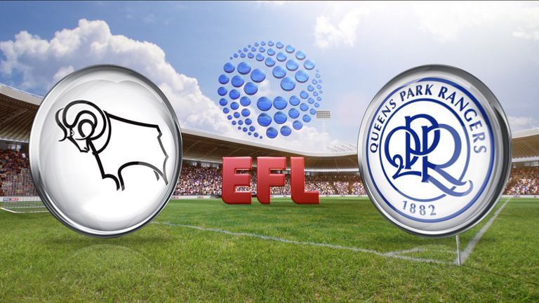 Watch Derby's clash with QPR live on Sky Sports 1 on Friday