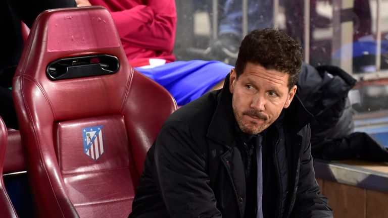 Diego Simeone reached the Champions League quarter-finals for the fourth consecutive season