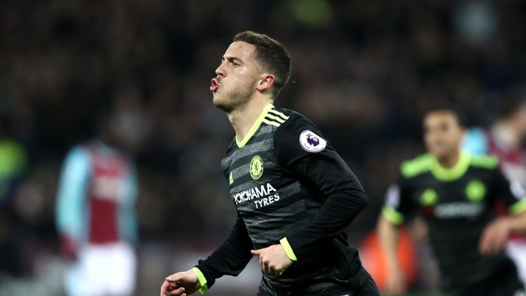 Eden Hazard opened the scoring in the 25th minute