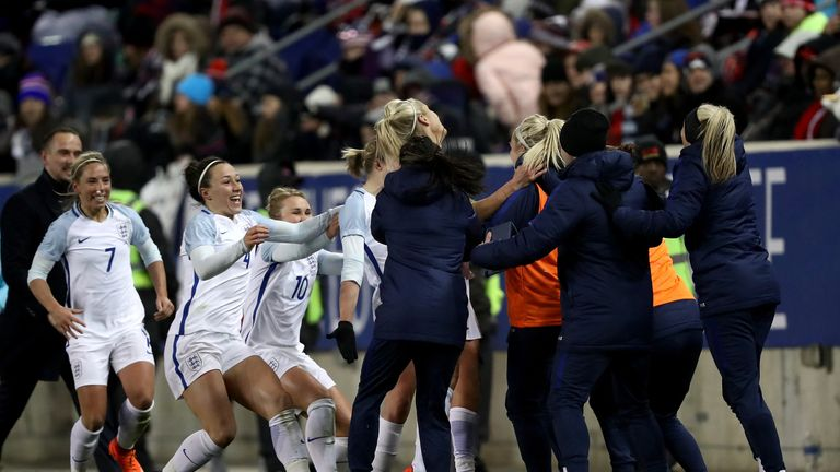 White's strike confirmed England's first victory over the USA since 2011