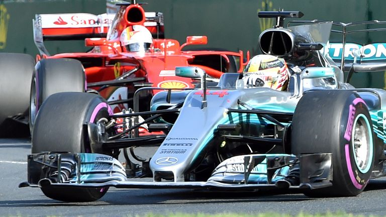 Hamilton second as Ferrari dominates opener