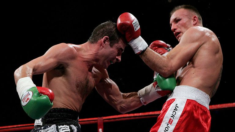 Joe Calzaghe (L) beat Mikkel Kessler in the iconic stadium back in November 2007