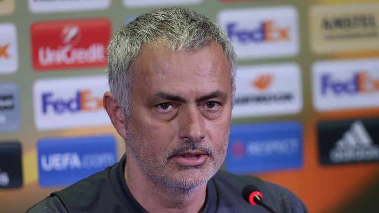 Mourinho faces the media in Rostov