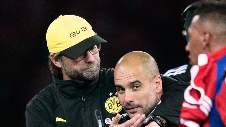 Pep Guardiola and Jurgen Klopp went head to head in the Bundesliga
