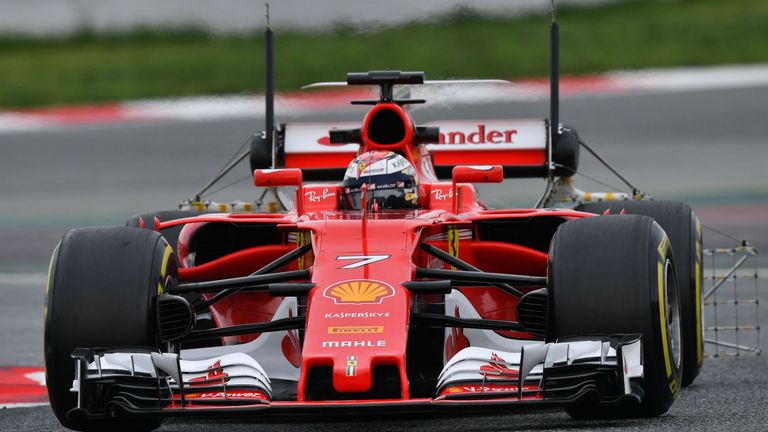 Ferrari's Sebastian Vettel tops Mercedes for fastest time at F1 tests